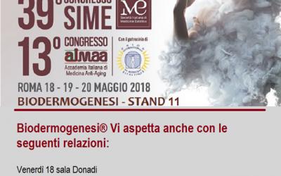 39° Congresso SIME a Roma (maggio 2018)